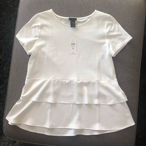 White short-sleeved Ann Taylor factory shirt